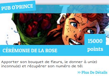 Pub o'prince défi cérémonie de la rose