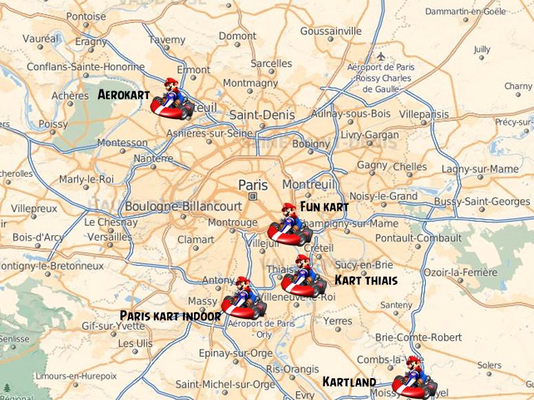 carte des karting à paris