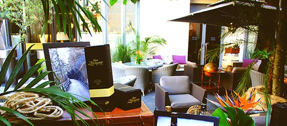 Terrasse le purple bar hotel du collectionneur