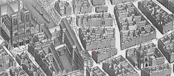 plan paris médiéval EVG les visiteurs intripid
