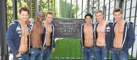 Boutique insolite Paris abercrombie & fitch