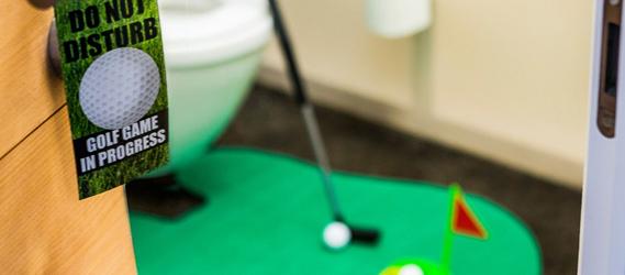 set de golf pour les toilettes