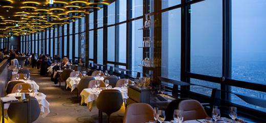Top 10 des restaurants où draguer à Paris - Le Ciel de Paris