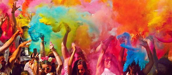sport insolite color battle