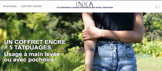 Tatouages éphémères à Paris - Inka