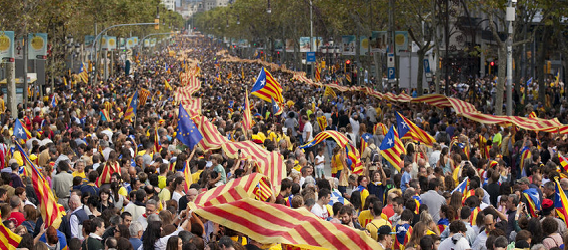 la independencia de cataluña-manifestación 11 setiembre-via Catalana Intripid
